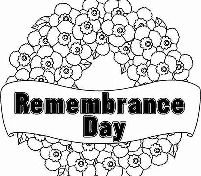 Remembrance Colouring Coloring Pages Poppy Wreath Poppies
