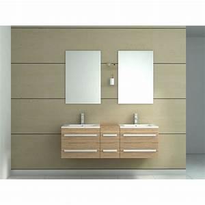 Meuble salle de bain double vasque pas cher for Meuble salle de bain double vasque bois pas cher