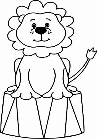 Circus Coloring Pages Animal Lion Clown Sheets