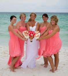 beachy bridesmaid dresses coral bridesmaid dresses with sweetheart ipunya