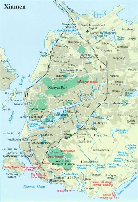 xiamen map map  xiamen china xiamen travel map