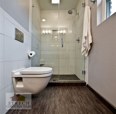 Small Modern Bathroom Remodel by Bathroom Remodel Modern Strech Construction Remodel