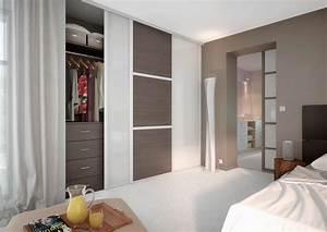 chambre avec placard sur mesure l39amenagement sur mesure With porte d entrée alu avec meuble de salle de bain esprit zen