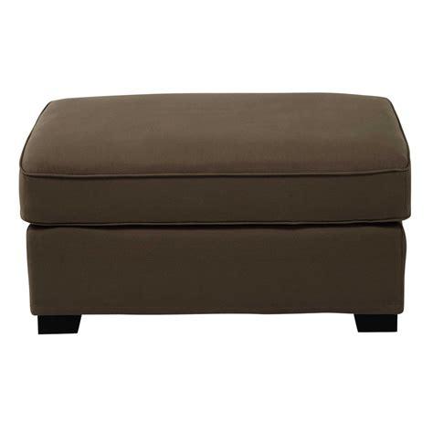canapé et pouf pouf de canapé modulable en coton taupe maisons