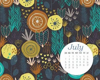 Calendar July Desktop Wallpapers Background Screensaver Calendars