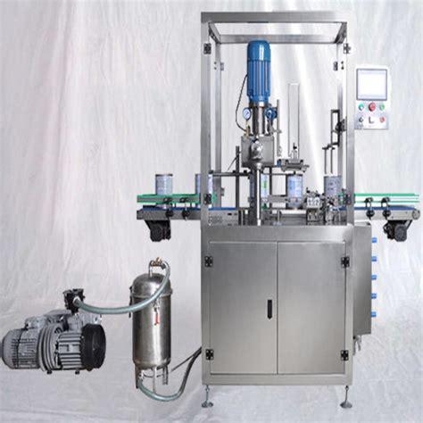 vacuum seamer machine  nitrogen gas flushing automatic capper sealer  closing nut milk