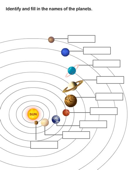 Solar System Worksheet 8  Learn About The Nine Planets In The Solar System