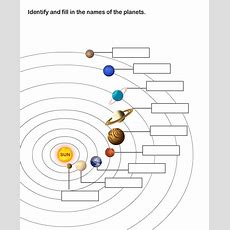Solar System Worksheet 8  Learn About The Nine Planets In