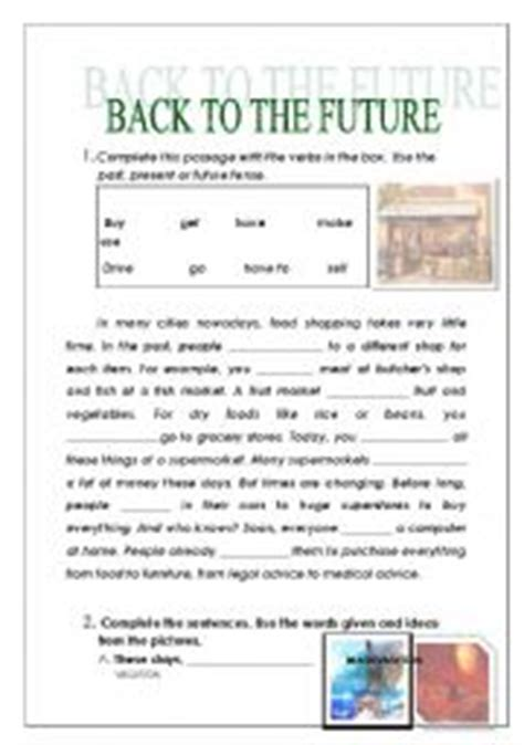 back to the future worksheet worksheet back to the future