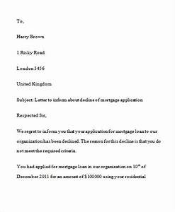 loan rejection letters 7 free sample example format With loan denial letter template