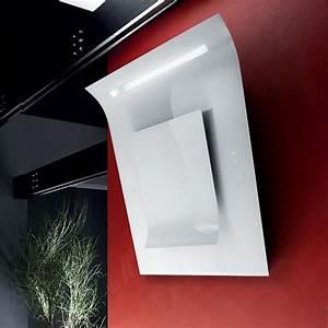 Hotte Aspirante Inclinée : hotte aspirante design blanche ~ Premium-room.com Idées de Décoration