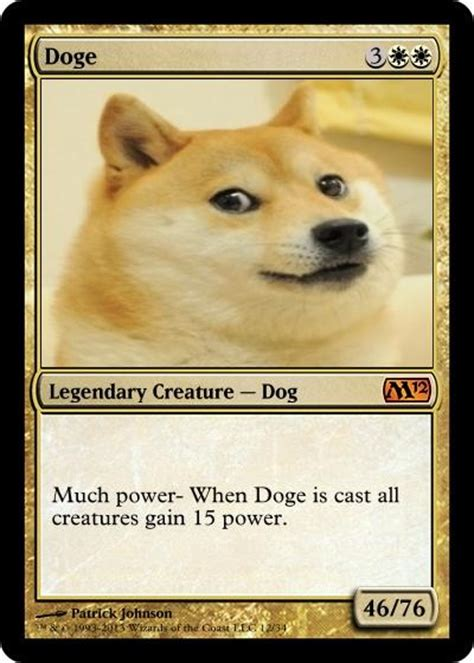 Doge Meme Origin - doge magic card doge know your meme