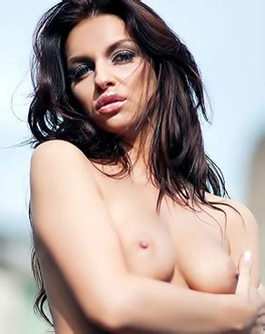 Appetising Brunette With Pale Smooth Skin Is Sexy And