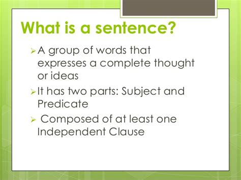 types  sentence   structure