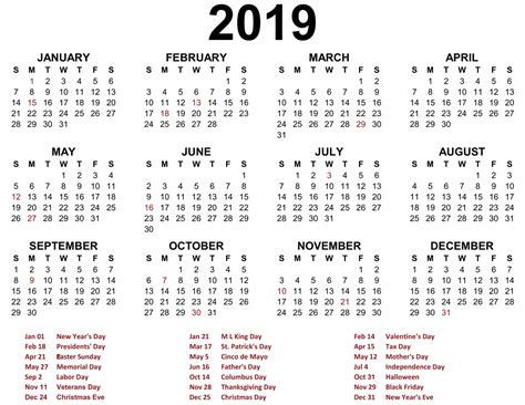 Calendar Template 2019 Printable Blank 2019 Calendar Templates Calenndar