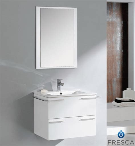 Houzz Bathroom Vanities And Mirrors by Fresca Cielo 24 Inch White Modern Bathroom Vanity With