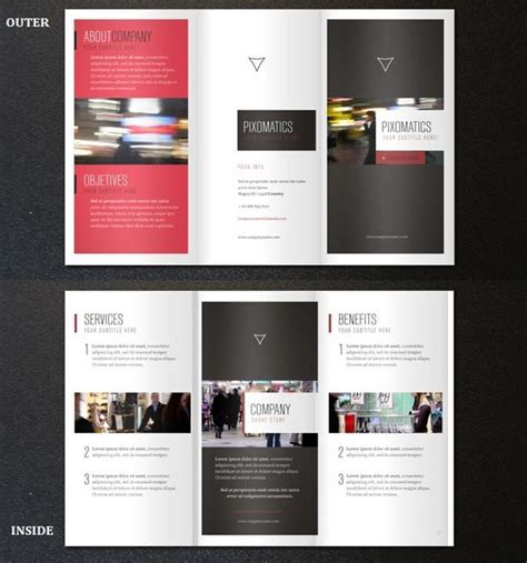 25 Free Printable Brochure Templates In Psd Eps Ai Templates For Tri Fold Brochures 25 Tri Folder Brochure