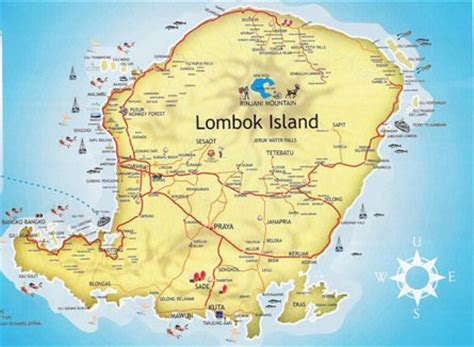 pin map lombok  pinterest