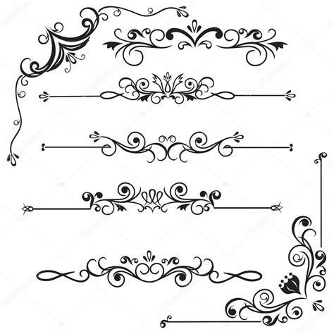bordes decorativos vector de stock 169 laraslk 9827541