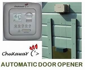 chuxaway sc automatic chicken door opener pop hole opener With electronic dog door opener