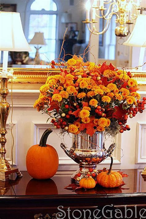 how to decorate a table for fall 55 cool fall flower centerpiece and flower table décor
