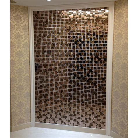 gold stainless steel backsplash for kitchen and bathroom metal and glass tile bravotti