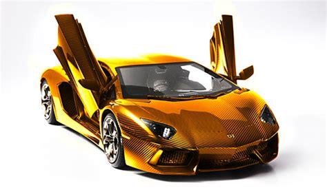 cool golden cars german artist creates gold lamborghini aventador lp 700 4