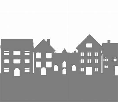Neighborhood Clipart Skyline Silhouette Transparent Apartment Vectorified