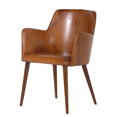 leather office chair in brown by out there interiors