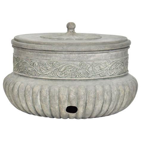 Decorative Garden Hose Pots - mpg 21 75 in dia special aged granite hose pot pf7063sag