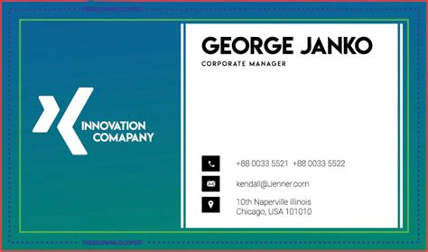 corporate manager business card freedownloadpsdcom