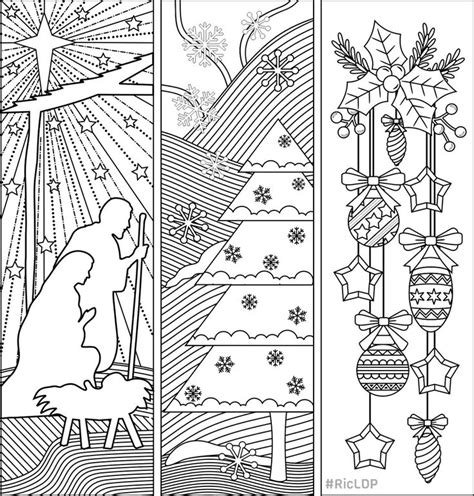 christmas template mark three christmas coloring bookmarks bookmarks templates