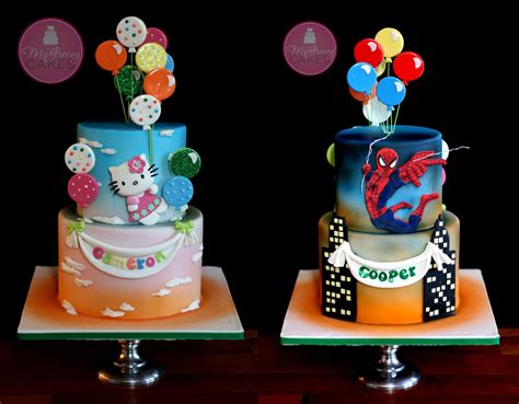 A Double Sided Cake For the Twins!   McGreevy Cakes