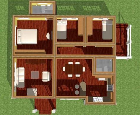 plano de casa moderna de