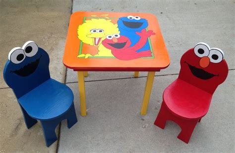 elmo table and chairs pin by elmo chair on elmo chairs for kids pinterest