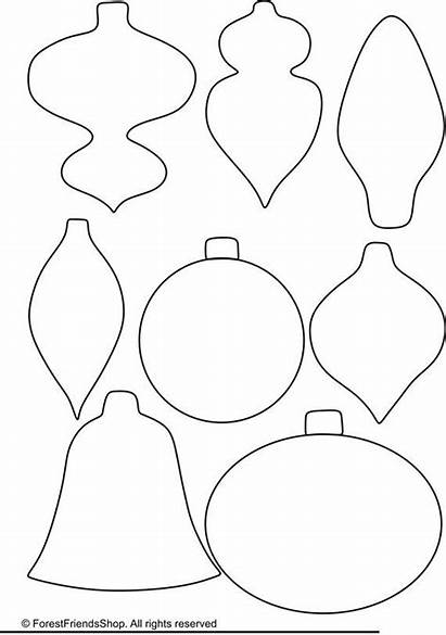 Ornaments Christmas Templates Pdf Ornament Template Easy