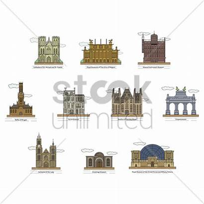Vector Landmarks Belgium Illustration Stockunlimited Graphic