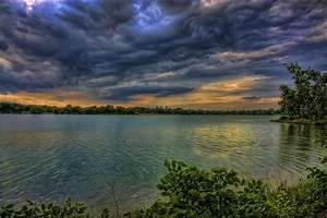 File:Lake Nokomis from shoreline with rolling clouds.jpg