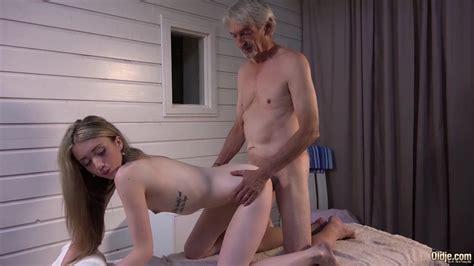 Skinny Teen Massage Has Sex With Grandpa And Sucks Cock
