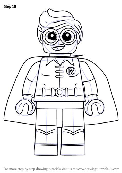 learn   draw robin   lego batman   lego batman  step  step