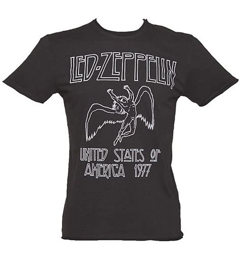 s charcoal led zeppelin usa 1977 t shirt from lified