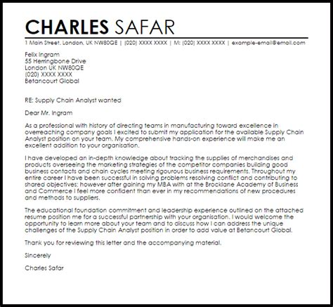 Cover Letter Supply Chain Internship by Supply Chain Internship Cover Letter Saps Move On Or