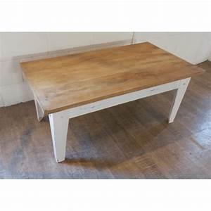 Table Basse Rotin Blanc