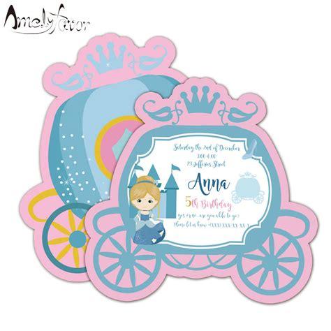 Princess Invitations Card Birthday Party Supplies Princess