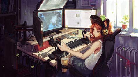 1920x1080 Anime Gamer Girl Laptop Full Hd 1080p Hd 4k