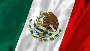 Mexican Flag Silk Cloth Animation (Loop Hd) Stock Video ...