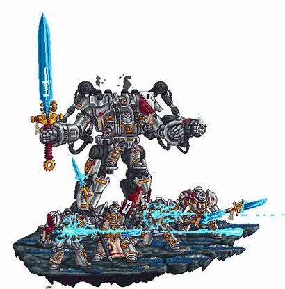 Warhammer 40k Pixel Grey Knights Deviantart Fantasy