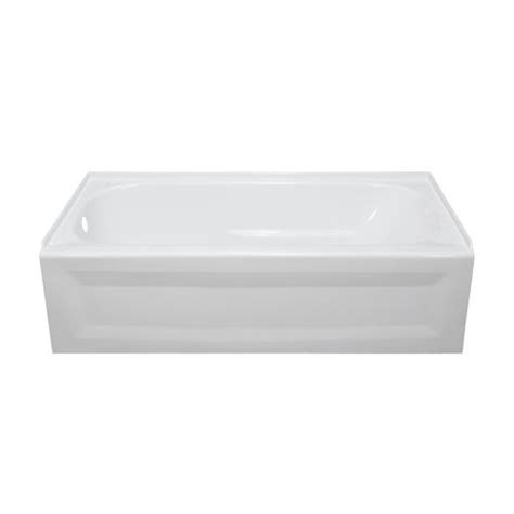 lyons elite 60 quot x 30 quot x 16 quot left hand drain bathtub at