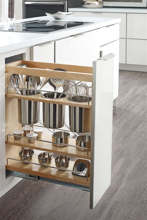 base cabinet pull out base utensil pantry pullout cabinet schrock cabinetry