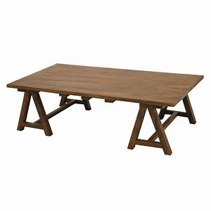 Pieds De Table Ikea : table basse avec treteaux ~ Dailycaller-alerts.com Idées de Décoration